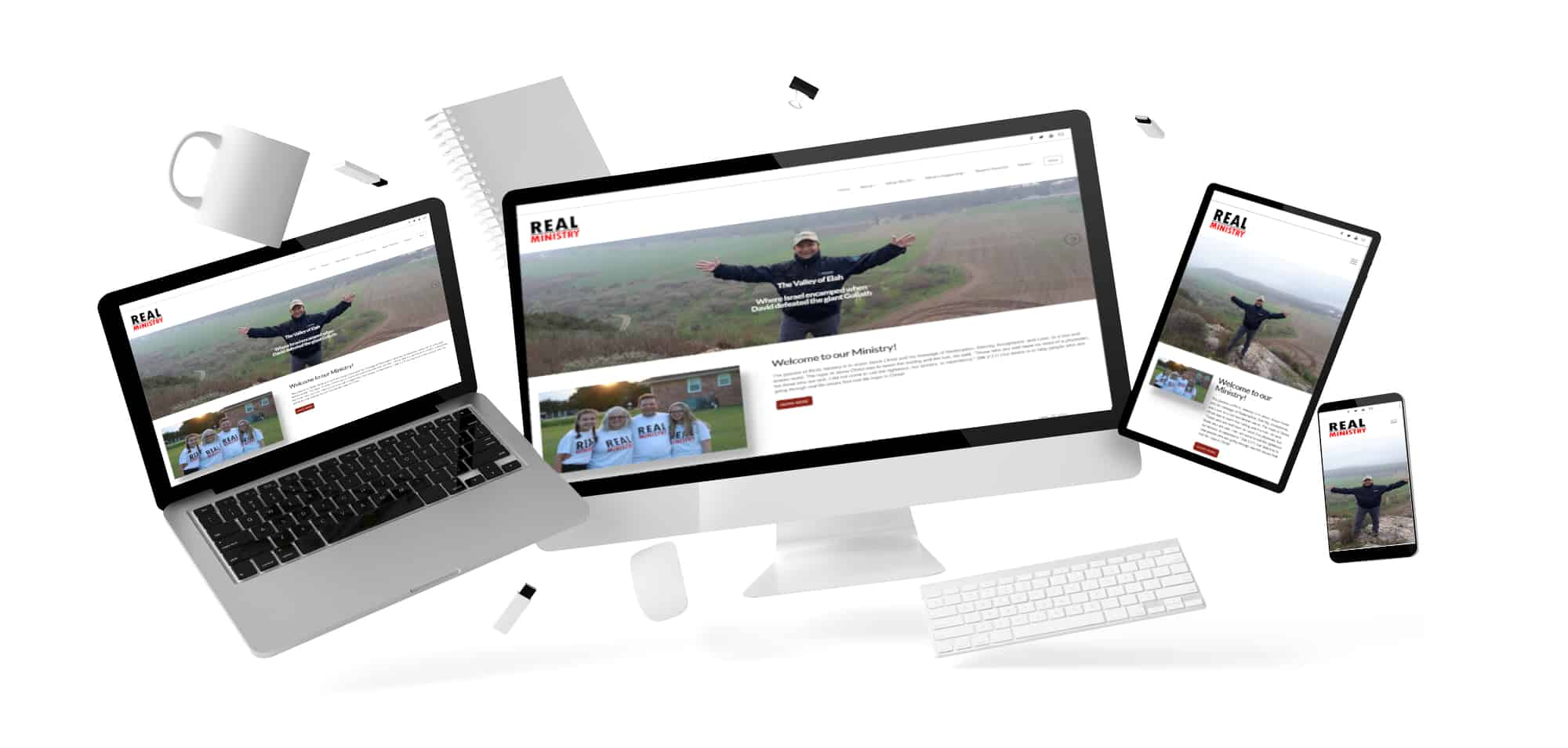 REAL Ministry website on multiple devices